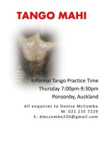 Tango Mahi Practica @ Sacred Heart Church Hall | Auckland | Auckland | New Zealand