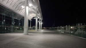 The Deck Practica, the venue at night