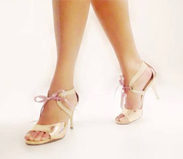 Turquoise tango shoes