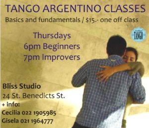 Beginners Tango Class - Cecilia Trini & Gisela Gordó @ Bliss Dance Studio | Auckland | Auckland | New Zealand