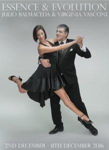 Julio Balmaceda and Virginia Vasconi Tango Workshops : 2 - 11 December, 2016 @ Various Sydney venues - see website | New South Wales | Australia