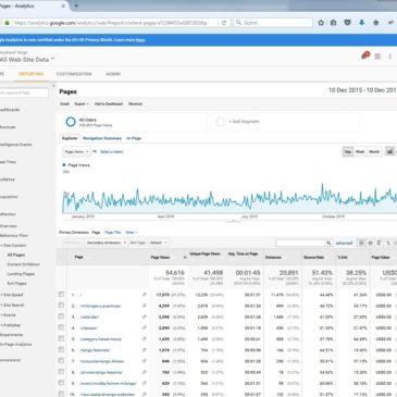 Google Stats year 1