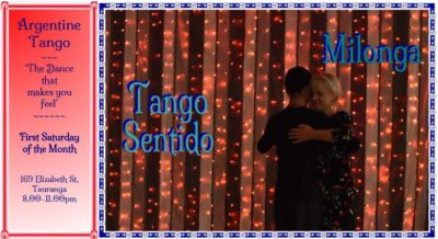 Tango Sentido Milonga @ Elizabeth Street Community Centre | Tauranga | Bay Of Plenty | New Zealand