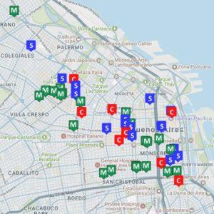 Buenos Aires tango Map