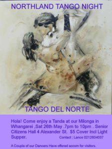 Milonga in Whangarei - Tango Del Norte @ Senior Citizens' Hall | Whangarei | Northland | New Zealand