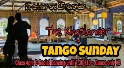 The Kingslander Sunday Tango @ The Kingslander | Auckland | Auckland | New Zealand