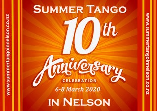 Summer Tango in Nelson 6-8 March 2020 @ Various | Nelson | Nelson | New Zealand