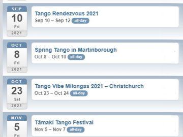 Tango Festivals 2021